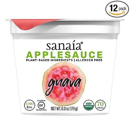 Sanaía APPLESAUCE 12 unidades (6 oz tazas), manzanas verdes ...