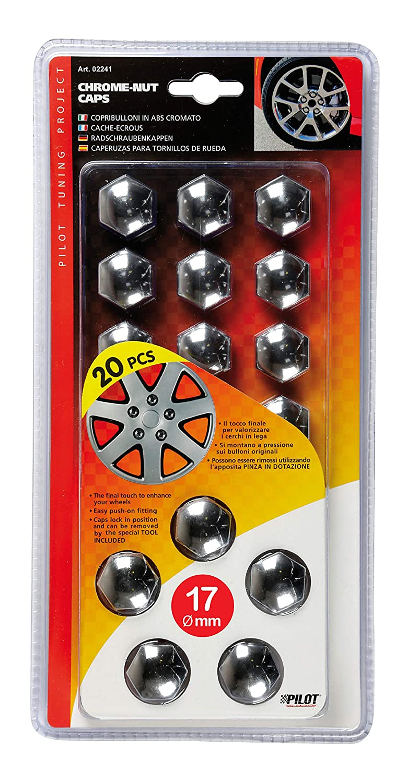 17 mm Lampa 02241 Copribulloni ABS Cromato