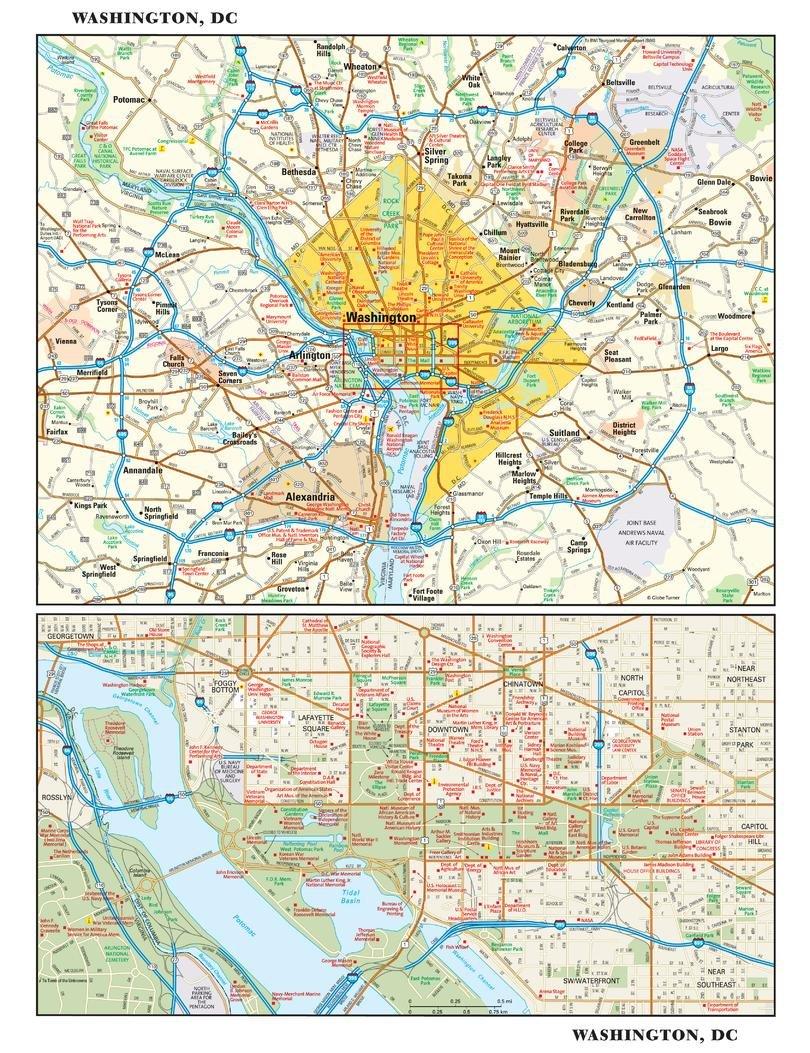 Amazon.com : Washington, DC Wall Map - 11.5\