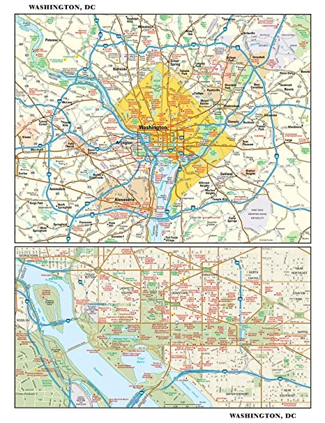 Amazon.com : Washington, DC Wall Map - 11.5\