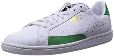 Puma Smash Leather, Unisex-Erwachsene Sneaker, Weiß White-Amazon Green 22, 40 EU