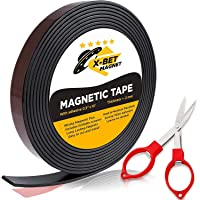 Flexible Magnetic Tape - 1/2 Inch x 10 Feet Magnetic Strip with Strong Self Adhesive - Ideal Magnetic Roll Tape for DIY…