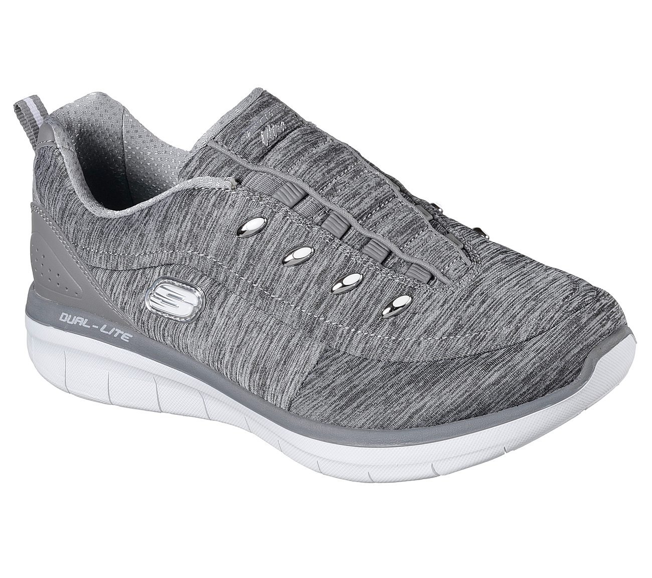 Skechers Women's Synergy 2.0-Scouted Wide Fashion Sneaker B074QF3KL3 11 C/D US|Grey