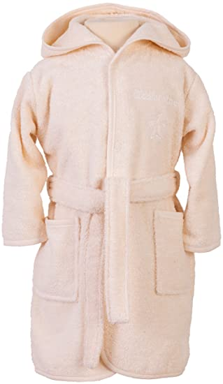 Smithy Organic Cotton Dressing Gown Natural Amazoncouk Baby