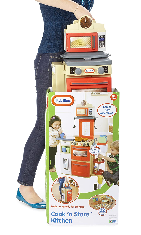 Little Tikes Cook \'n Store Küche (rot): Amazon.de: Spielzeug