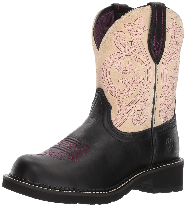 Ariat Women Women's Fatbaby Collection Western Cowboy Boot B01NAYPDCK 7 B(M) US|Black Carbon/ Cream
