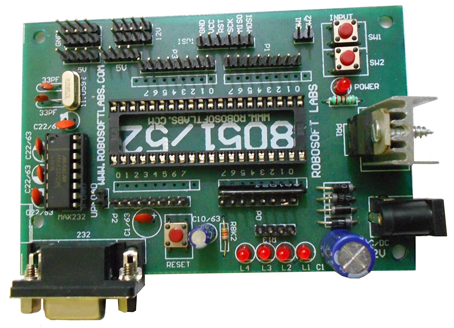 Buy Robosoft Labs 8051 8052 40 Pin Microcontroller Development Reset Circuit Board With Rs232 Online At Low Prices In India