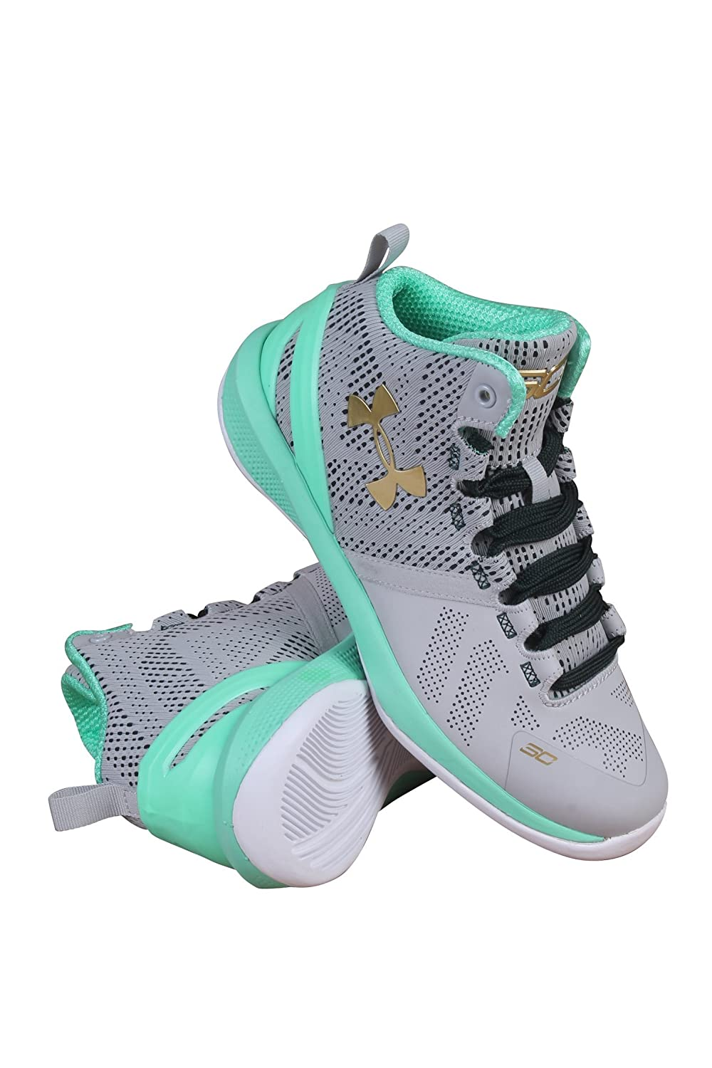 1270904-053 PRESCHOOL UA BPS CURRY 2 UNDER ARMOUR GREY / TEAL