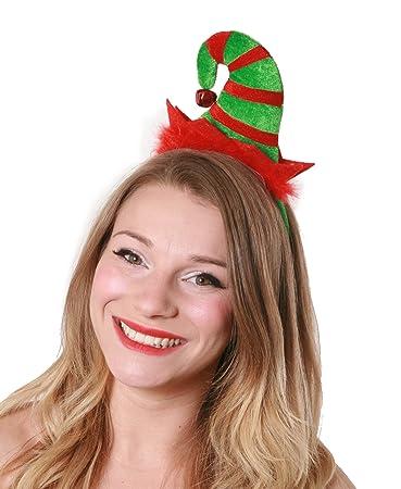 ILOVEFANCYDRESS Santa\'s Helfer Elf Hut an Einem Haarreif mit Plüsch ...