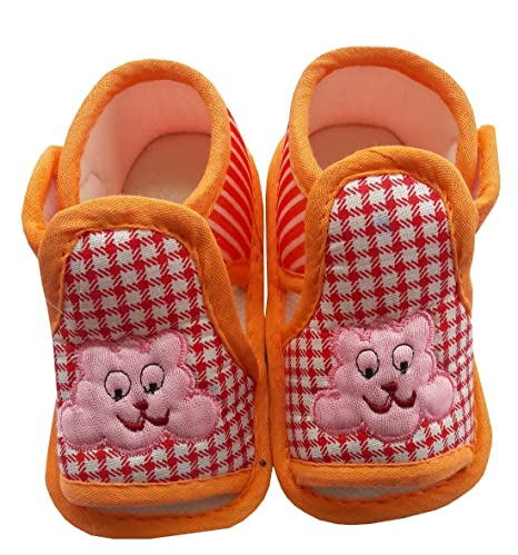 babe4b2e8 Buy BabyMart High Quality New Born Baby Boy Baby Girl Bootie Sandal (Length  of Bootie : 10 cm) (Orange, 10cm) Online at Low Prices in India - Amazon.in