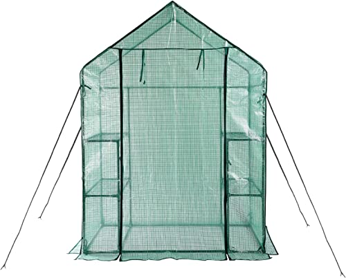 Greenhouse,Indoor and Outdoor Greenhouse,Window and Anchors Include,Grow Plants Seedlings Herbs or Flowers 56 30 76