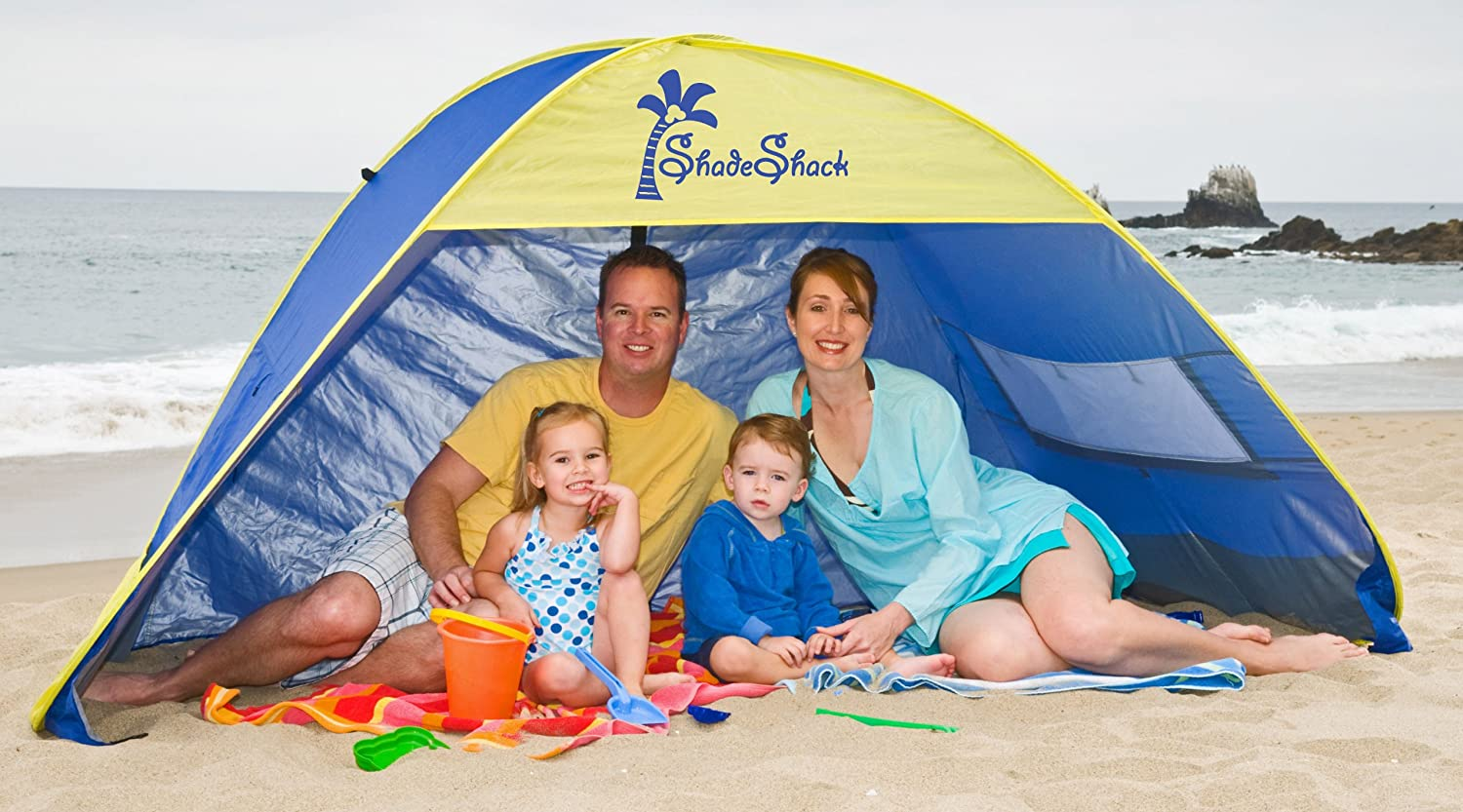 Shade Shack Beach Tent Easy Automatic Instant Pop Up Sun Shelter