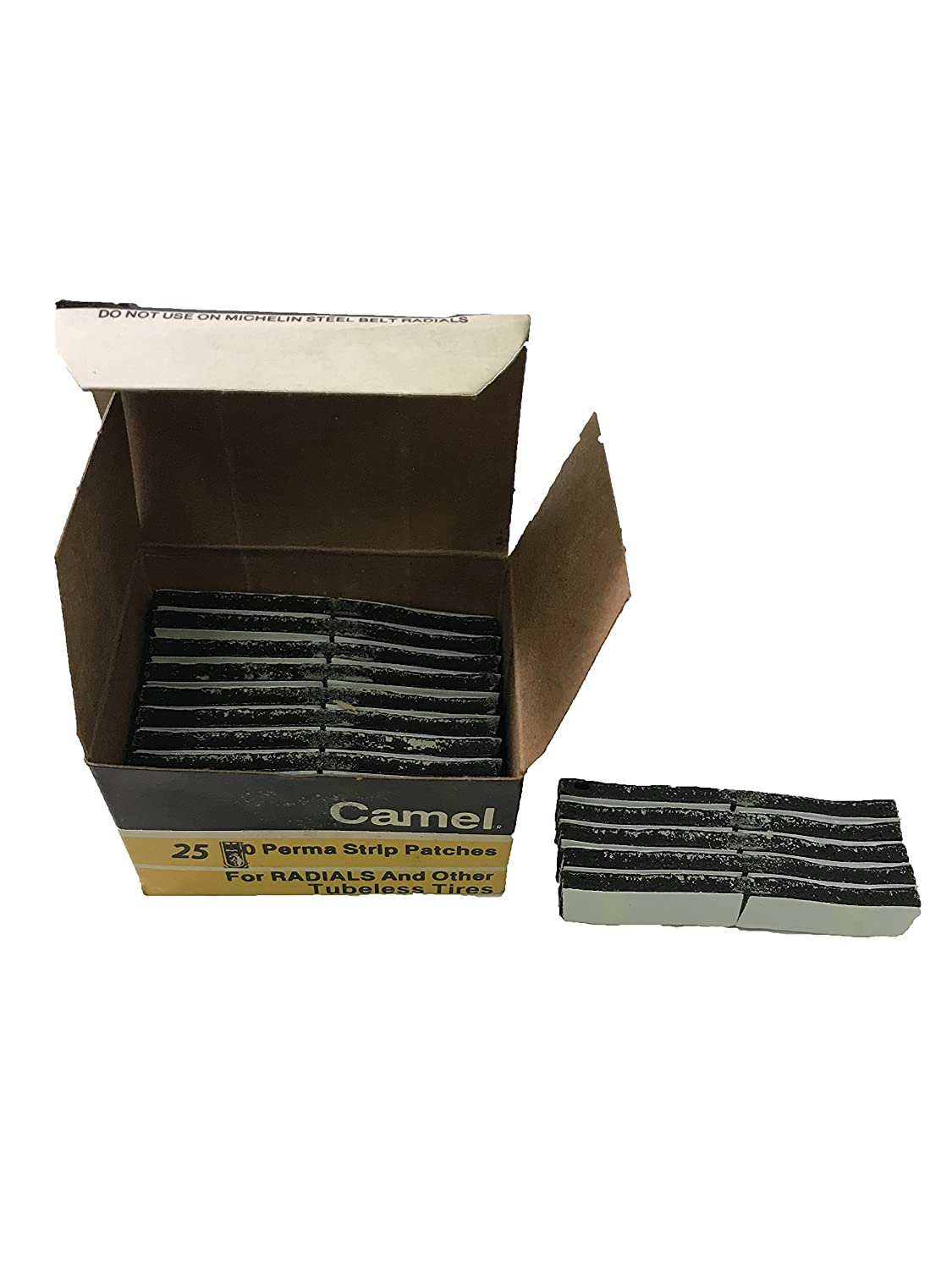 Camel Sherco-Auto 25 Pieces 15-180 Perma Strip Radial Tire Patches 2.5' x 3/8' x 3/16' - USA Made