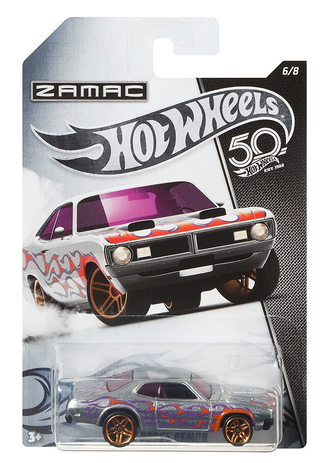HW Hotwheels 50th Anniversary ZAMAC FRN29 - 1971 Dodge Demon 6/8: Amazon.es: Juguetes y juegos