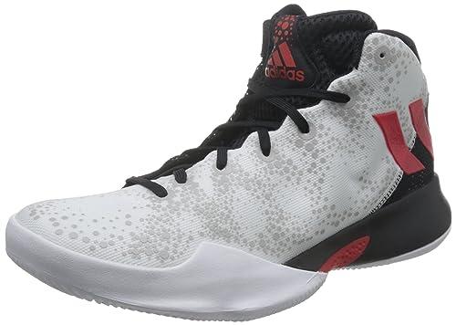 adidas Crazy Heat, Scarpe da Basket Uomo, Colori Vari (Ftwbla/Escarl/