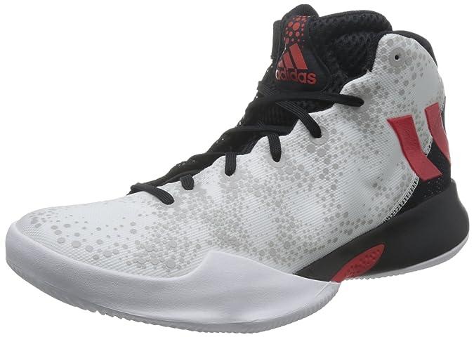 Adidas Crazy Heat, Zapatillas de Baloncesto para Hombre, Varios Colores (Ftwbla/Escarl/Negbas), 44 EU adidas