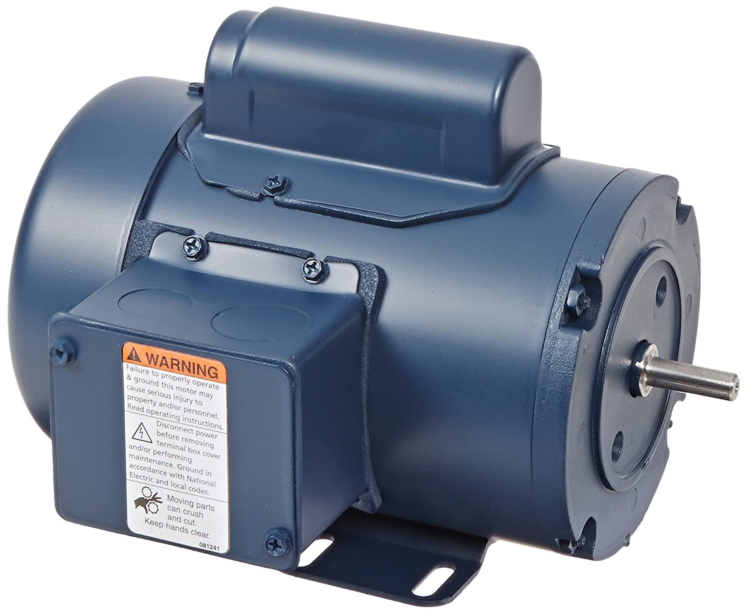 Leeson 092111.00 General Purpose TEFC Motor L42 Frame 115//208-230V Voltage Rigid Mounting 1800 RPM 1 Phase 1//12HP 60Hz Fequency C42C17FB3 C