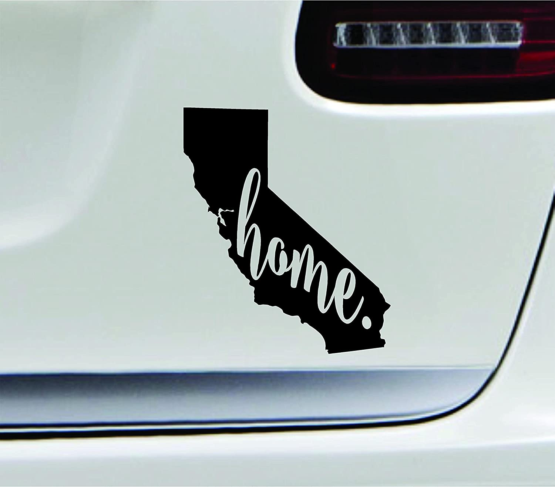 Amazon com 3 home california state sacramento silhouette symbol sticker decal car truck window computer laptop black automotive