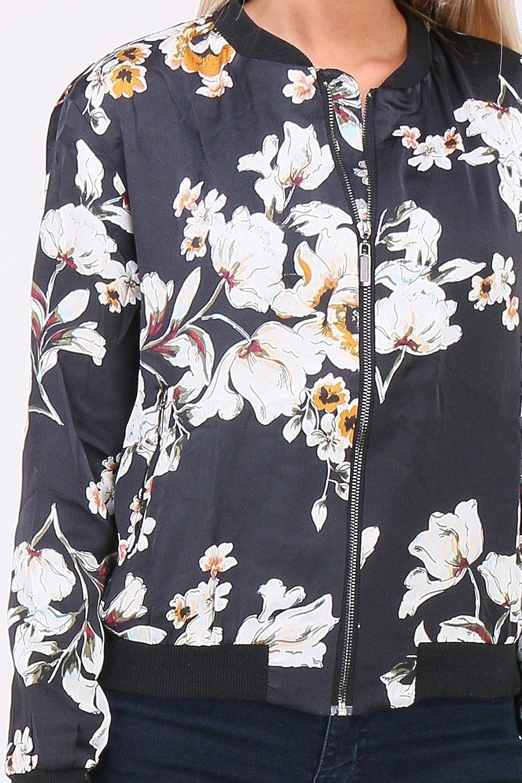 QUEEN´S Leichte Blousonjacke mit Blumenmustern | SKYLT