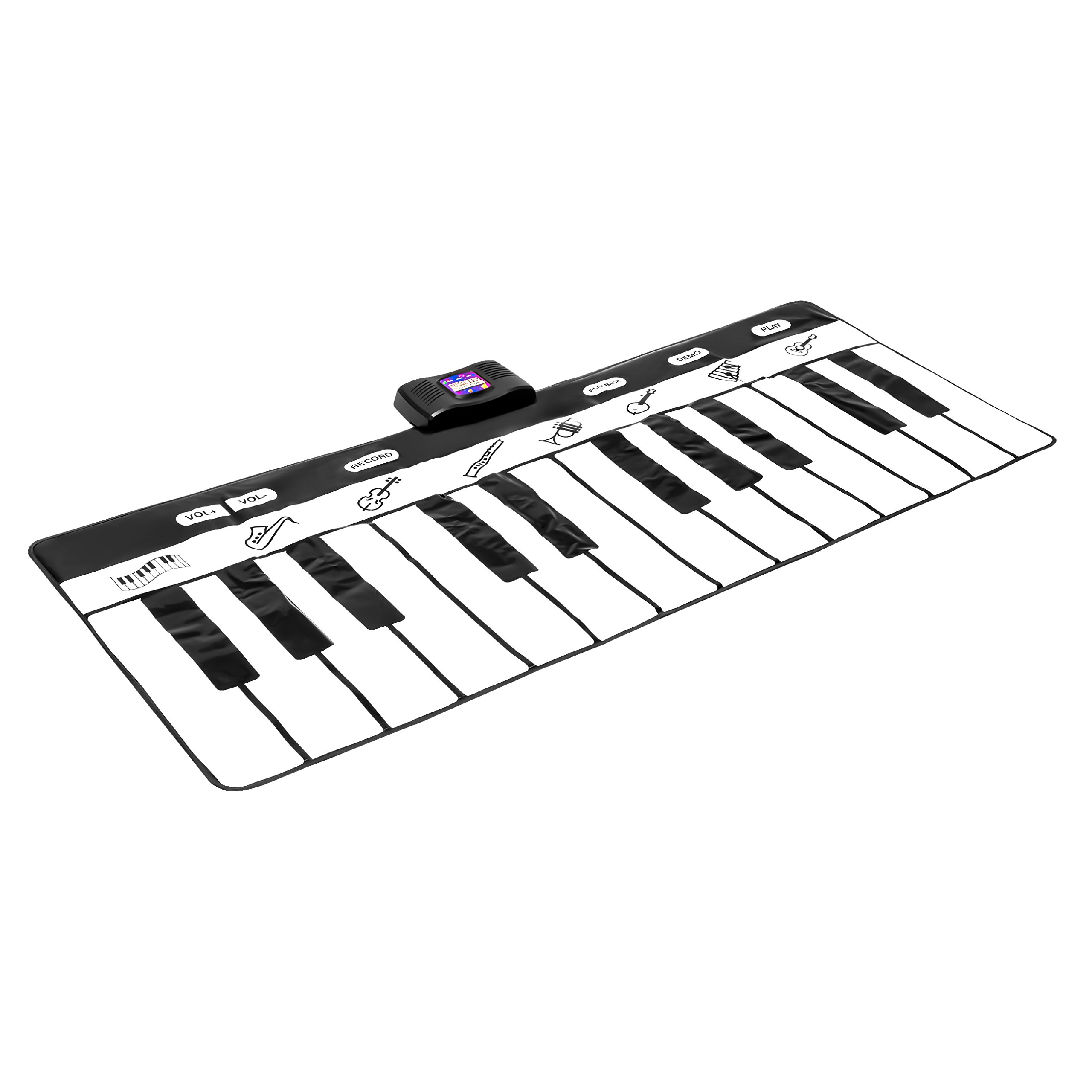 Best Choice Products 71-Inch Vinyl 24-Key Keyboard Playmat with 8 Settings and Recorder, Black/White by Best Choice Products (Image #3)