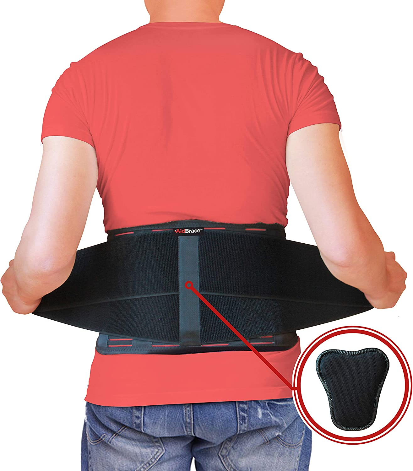 AidBrace Back Brace for Lower Back Pain Relief for Men