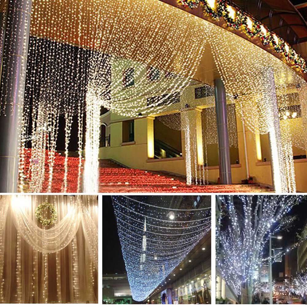Lily's Gift LED String Lights with 66ft 200LED 8 Modes Irregular Firefly Starry String Light for Patio, Garden, Yard, Square, Chritmas, Wedding Decor (Warm Light) by Lily's Gift (Image #5)