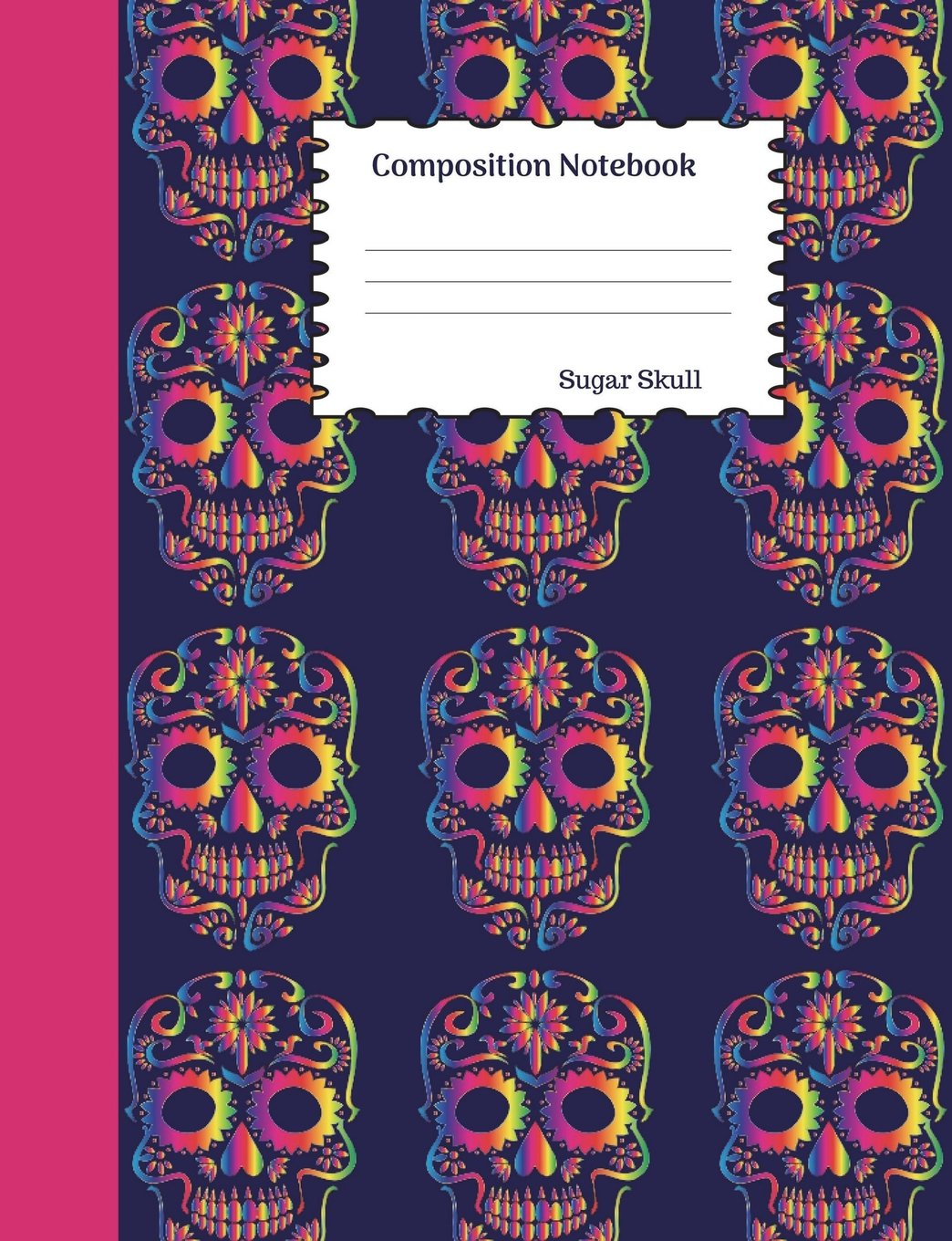 Sugar Skull Composition Notebook: Dia de los Muertos Graph Paper Book to write in for school, take notes, for kids, students, teachers, homeschool, Mexican Day of the Dead Cover pdf epub