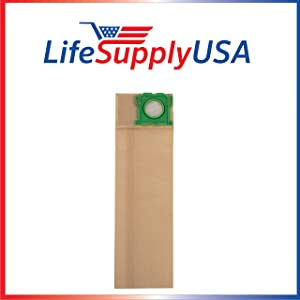 LifeSupplyUSA 100 Pack Vacuum Bags Compatible with Windsor Sensor SR12 SR15 SR18 XP12 Versamatic Plus etc