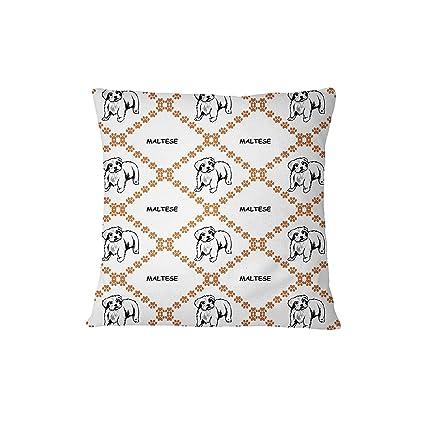 Maltés perro patas sofá cama decoración del hogar funda de almohada cover sólo artslifes