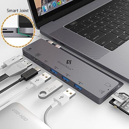 USB C Hub for Apple MacBook Pro 2018, 2017, 2016 - USBC
