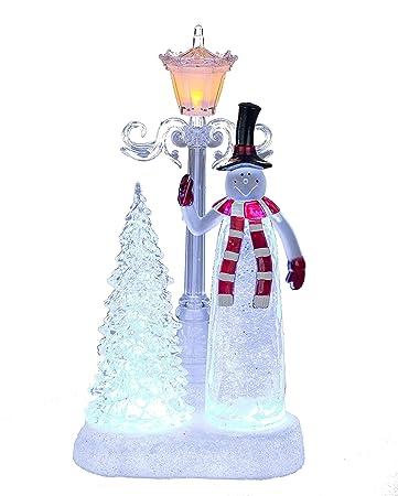 Formano Schneemann Figur Mit Laterne Aus Acryl Mit Licht Und Wasser