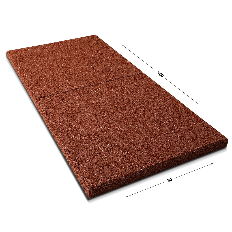 Tapis anti chute etm/® Play-Protect Plus en 5 coloris Made in Germany /épaisseur 22mm amortit les chocs usage outdoor rouge SET de 2 pi/èces 100x50cm