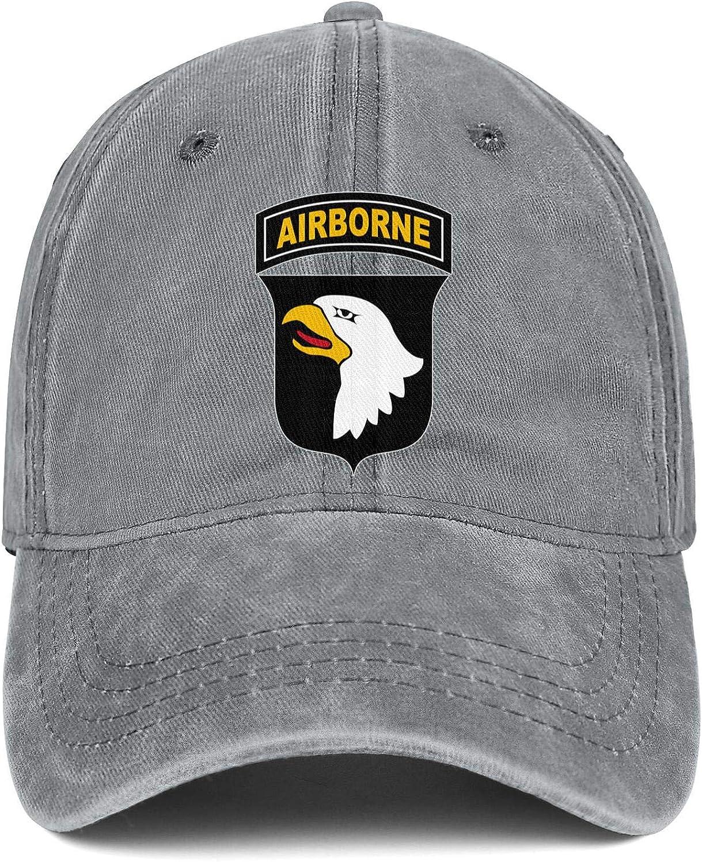 Cycling Baseball Hat NAKHFBVi Unisex ManFashion Denim Dad Hat Sanpback 82nd-Airborne-Division