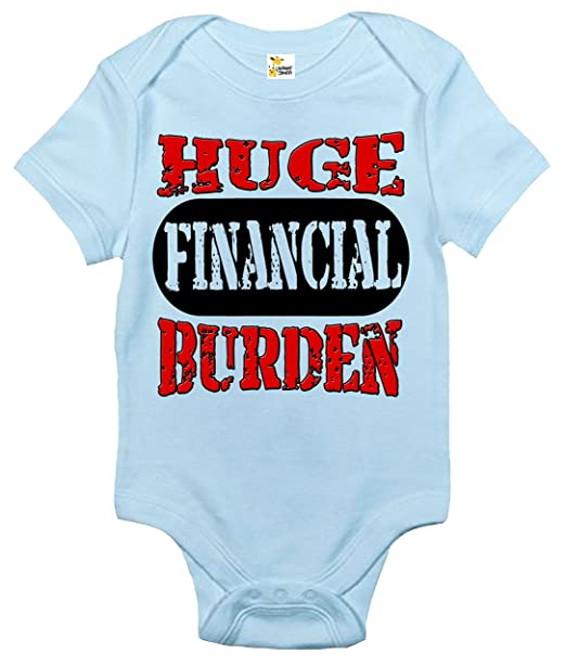 a2cd59733 Huge Financial Burden Baby Bodysuit Cute Baby Clothes for Infant Boys and  Girls (Light Blue