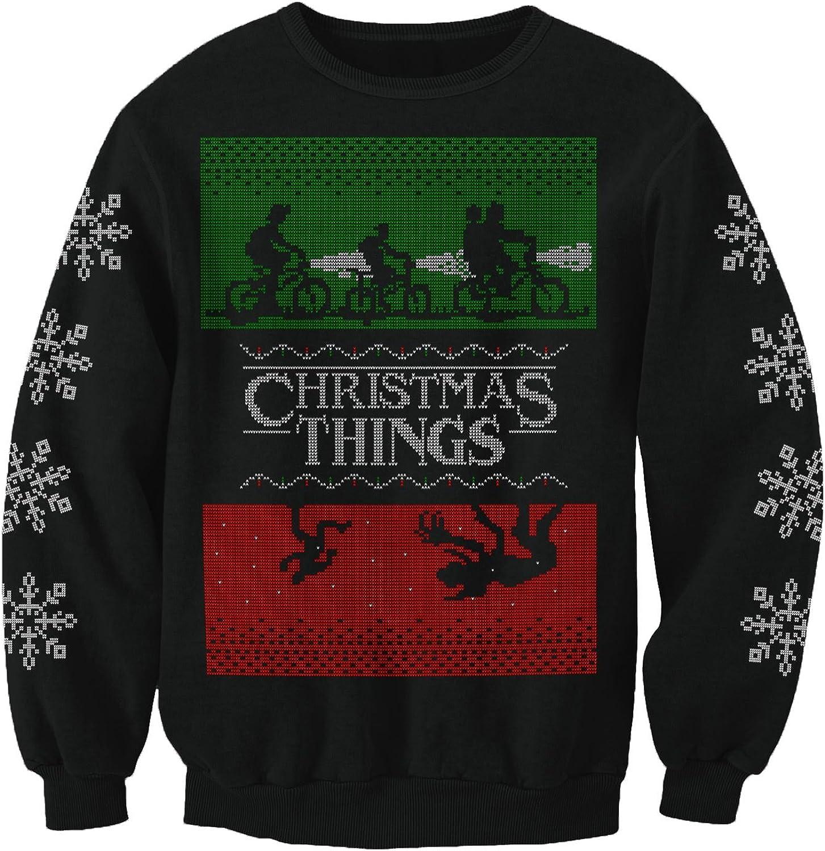 Merry Christmas Stranger Things Inspired Christmas Jumper Xmas Sweatshirt