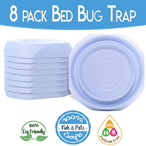 Amazon Com Bed Bug Interceptors Bed Bug Traps 8 Pack White Bed