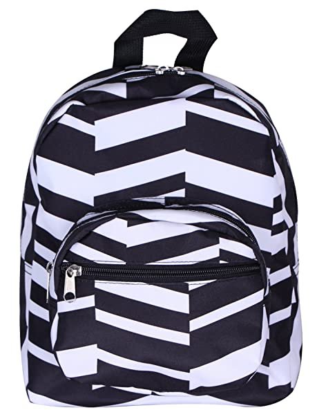 a5cec2a638b Amazon.com   Mini Backpack- Black   White   Kids  Backpacks