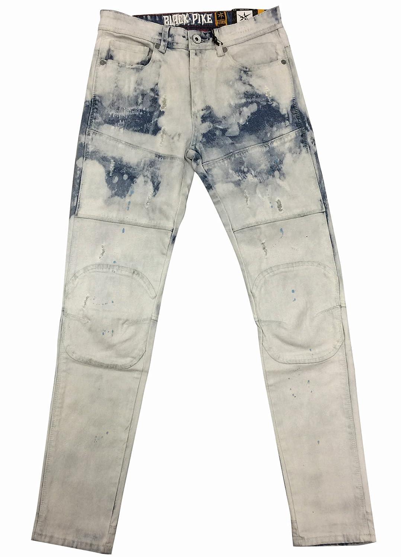Black Pike 3D Knee Biker Jeans