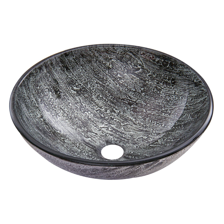 VIGO VG07050 Titanium Glass Vessel Bathroom Sink