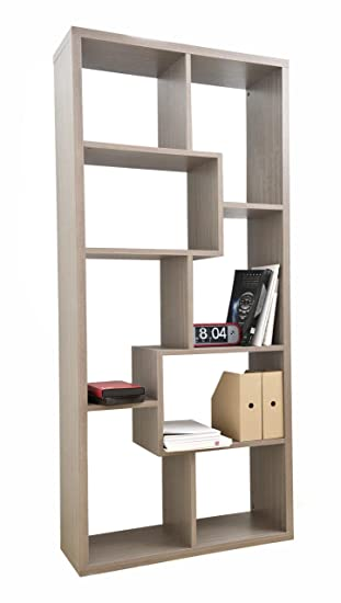 Enitial Lab Oasis Open Back Bookcase, Grey Oak