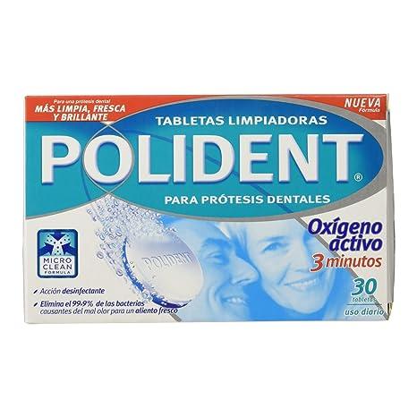 Polident - Tabletas limpiadoras para prótesis dentales - 30 tabletas: Amazon.es: Salud y cuidado personal