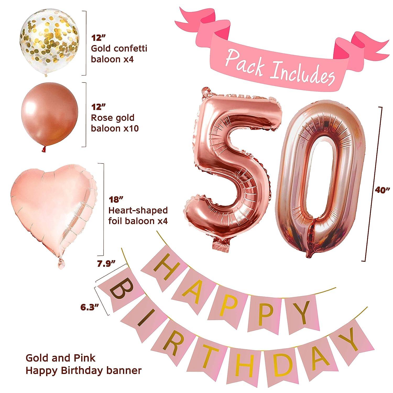 Amazon.com: Decoración para 50 cumpleaños – decoración de ...