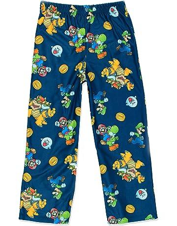 f0c5e4246b331 Super Mario Boy's Flannel Lounge Pajama Pants (Little Kid/Big ...