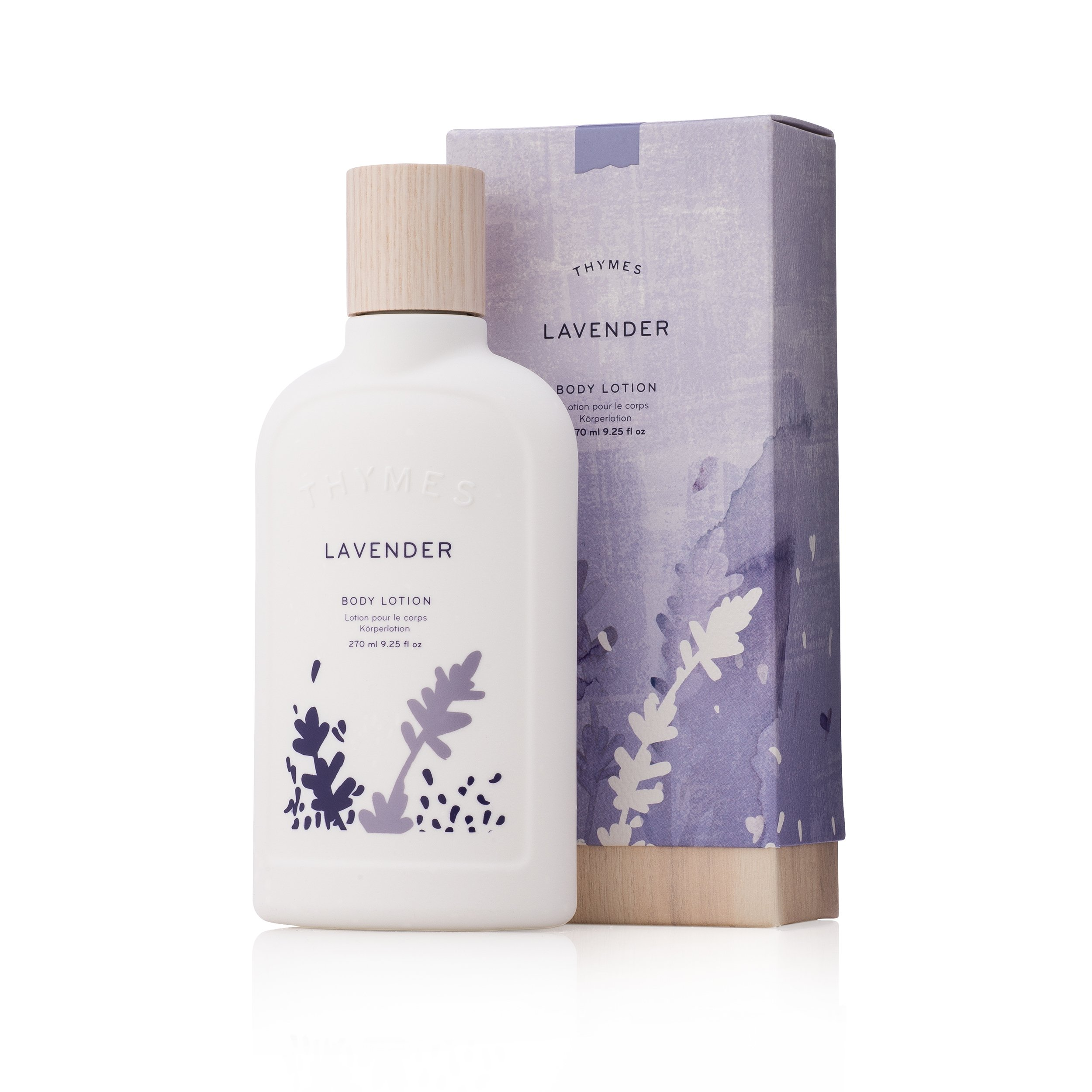 Thymes - Lavender Body Lotion - Relaxing Lavender Scent with Moisturizing Shea Butter and Vitamin E - 9.25 oz by Thymes