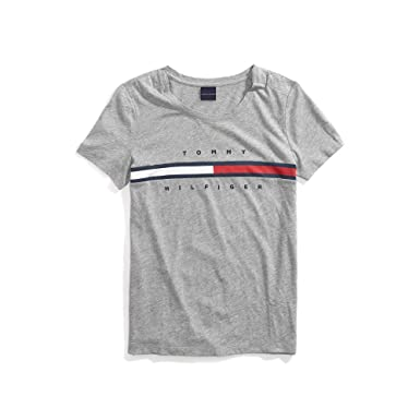 8fd656ff6bfd Tommy Hilfiger Adaptive Women s T Shirt with Magnetic Closure Signature  Stripe Tee