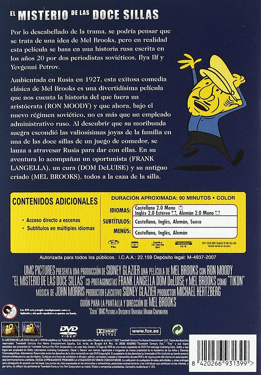 El misterio de las 12 sillas [DVD]: Amazon.es: Mel Brooks, Ron Moody, Dom Deluise, Frank Langella, Varios: Cine y Series TV