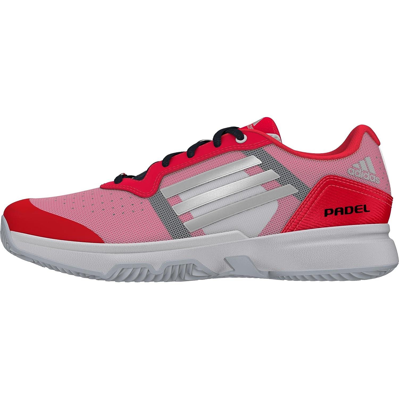 adidas Sonic Court W Padel, Zapatillas de Tenis para Mujer, Rojo/Plateado/Blanco (Rojimp/Plamat/Ftwbla), 39 1/3 EU: Amazon.es: Zapatos y complementos