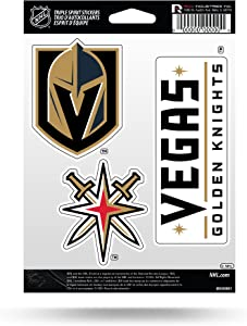 Rico NHL Triple Spirit Stickersnhl Triple Spirit Stickers, Black, Yellow White, 3 Team Stickers