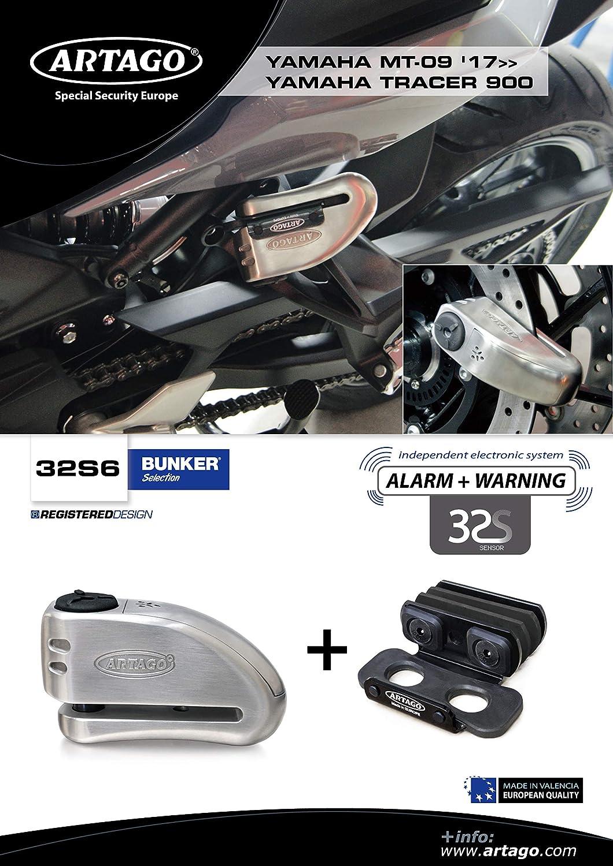 Artago 32S6 Antirrobo Disco Alarma 120db Alta Gama y Soporte ...
