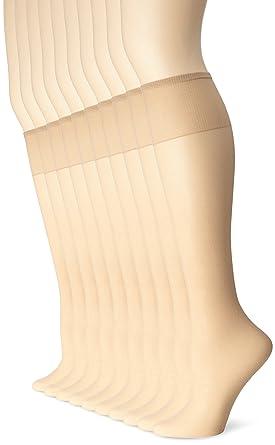 2ede068703f No Nonsense Women s Sheer Toe Comfort Top Knee Highs